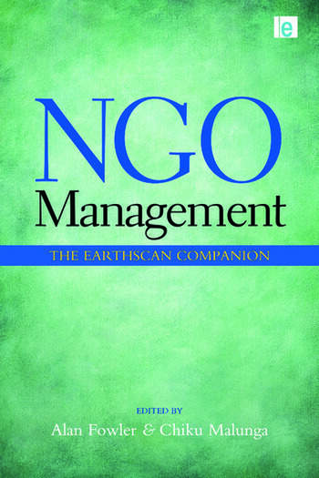 NGO Management The Earthscan Companion book cover