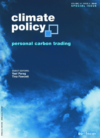 Personal Carbon Trading book cover