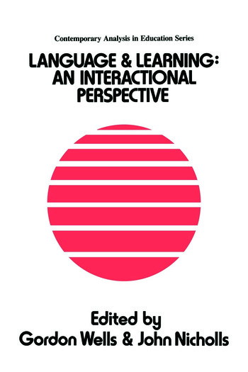 Language And Learning An Interactional Perspective book cover