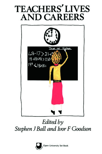 Teachers' Lives And Careers book cover
