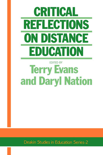 Critical Reflections On Dist. book cover