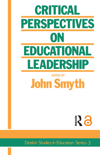 Critical Perspectives On Educational Leadership book cover