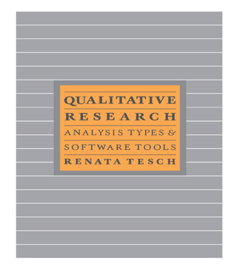 Qualitative Research: Analysis Types and Software book cover