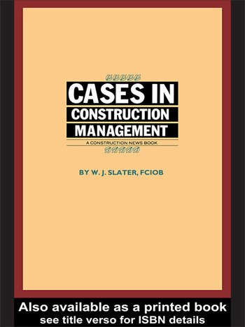 Cases in Construction Management book cover