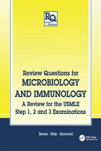 Review Questions for Microbiology and Immunology A Review for the USMLE, Step 1, 2 and 3 Examinations book cover