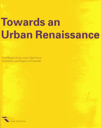 Towards an Urban Renaissance book cover