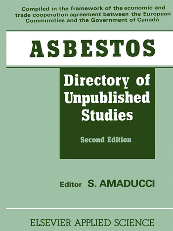 Asbestos Directory of Unpublished Studies book cover