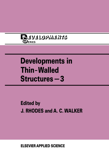 Developments in Thin-Walled Structures - 3 book cover