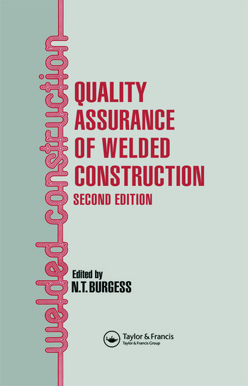 Quality Assurance of Welded Construction book cover