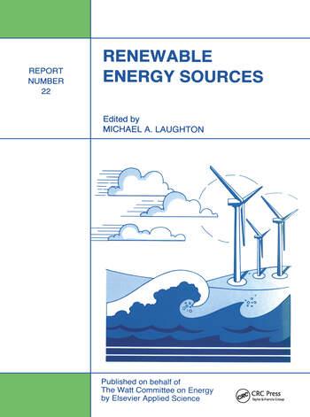 Renewable Energy Sources Watt Committee: report number 22 book cover