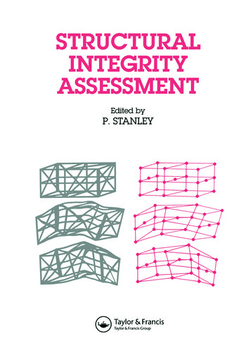 Structural Integrity Assessment book cover