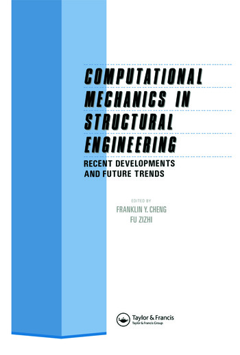 Computational Mechanics in Structural Engineering Recent developments and future trends book cover