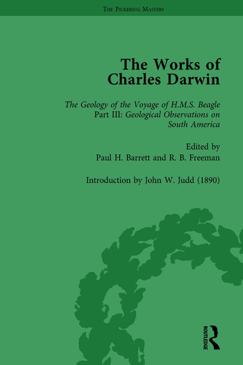 The Works of Charles Darwin: v. 9: Geological Observations on South America (1846) (with the Critical Introduction by J.W. Judd, 1890) book cover