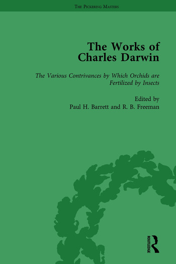 The Works of Charles Darwin: Vol 17: The Various Contrivances by Which Orchids are Fertilised by Insects book cover