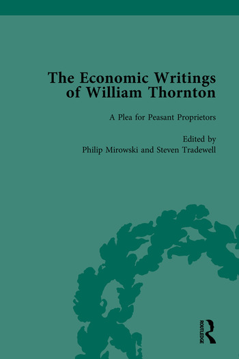 The Economic Writings of William Thornton book cover