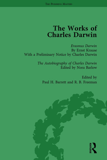 The Works of Charles Darwin: Vol 29: Erasmus Darwin (1879) / the Autobiography of Charles Darwin (1958) book cover