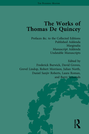 The Works of Thomas De Quincey, Part III book cover