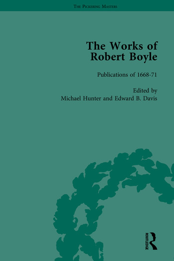 The Works of Robert Boyle, Part I book cover