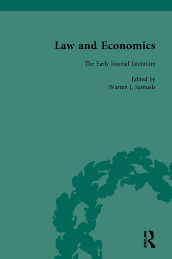 Law and Economics The Early Journal Literature book cover