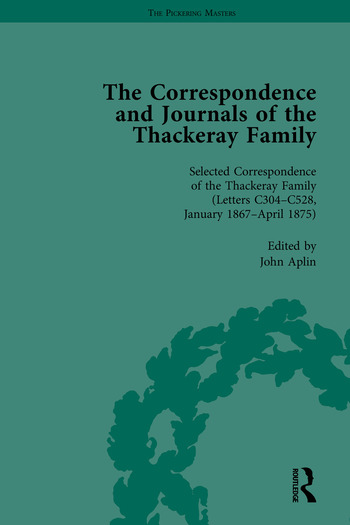 The Correspondence and Journals of the Thackeray Family book cover