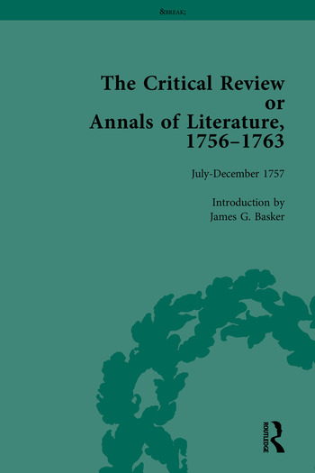 The Critical Review or Annals of Literature, 1756-1763 book cover