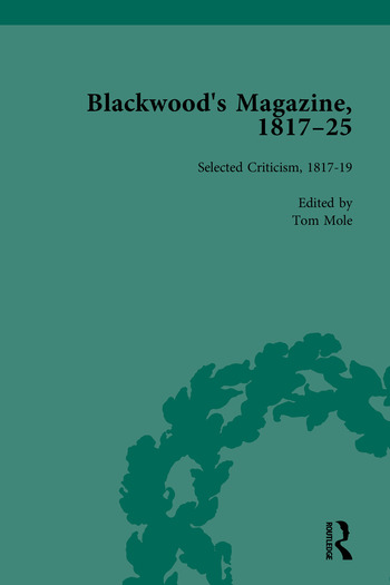Blackwood's Magazine, 1817-25 Selections from Maga's Infancy book cover