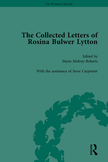 The Collected Letters of Rosina Bulwer Lytton book cover