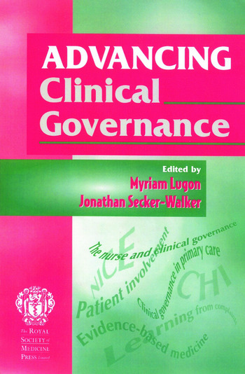 Advancing Clinical Governance book cover