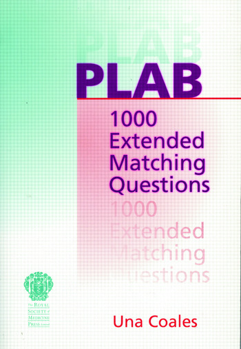 PLAB: 1000 Extended Matching Questions book cover