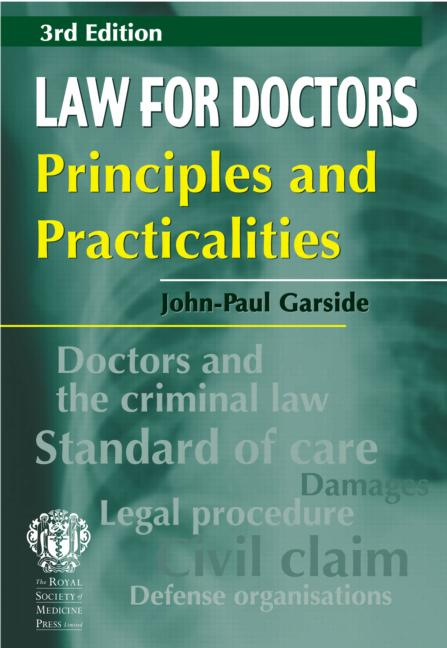 Law for Doctors: Principles and Practicalities, 3rd edition book cover