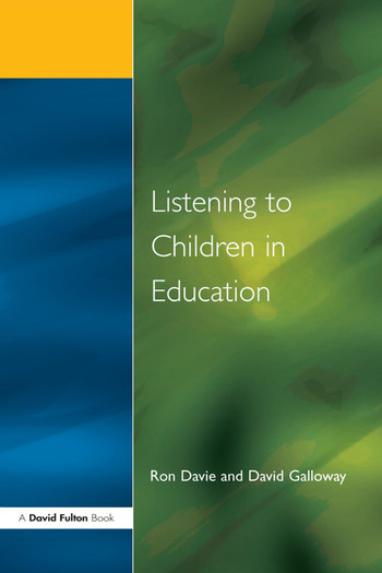 Listening to Children in Educ book cover