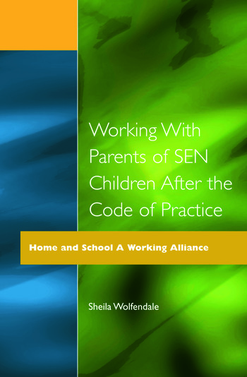 Working with Parents of SEN Children after the Code of Practice book cover