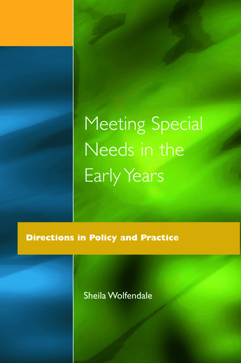Meeting Special Needs in the Early Years Directions in Policy and Practice book cover