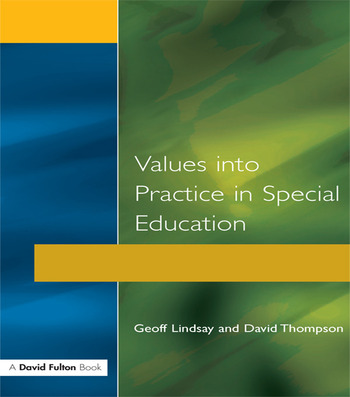 Values into Practice in Special Education book cover