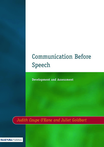 Communication before Speech Development and Assessment book cover