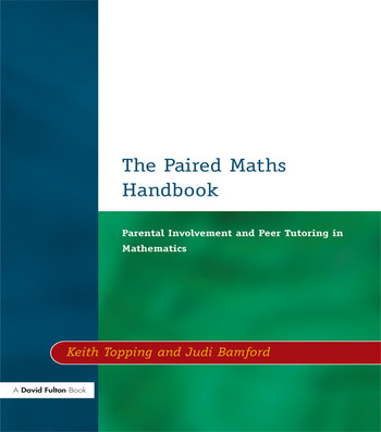 Paired Maths Handbook Parental Involvement and Peer Tutoring in Mathematics book cover