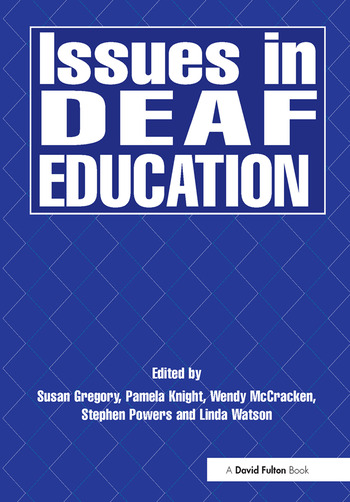 Issues in Deaf Education book cover