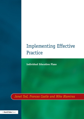 Individual Education Plans Implementing Effective Practice book cover