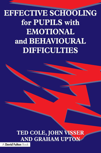 Effective Schooling for Pupils with Emotional and Behavioural Difficulties book cover