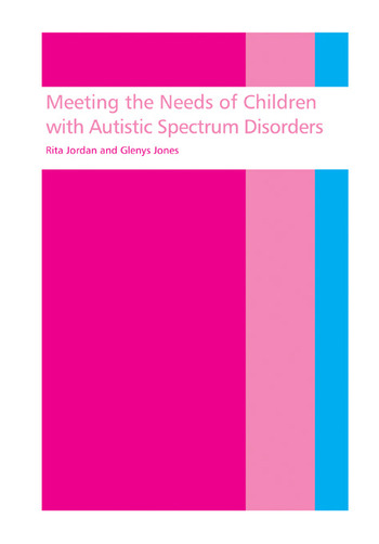 Meeting the needs of children with autistic spectrum disorders book cover