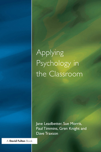 Applying Psychology in the Classroom book cover