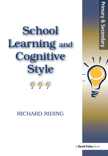 School Learning and Cognitive Styles book cover