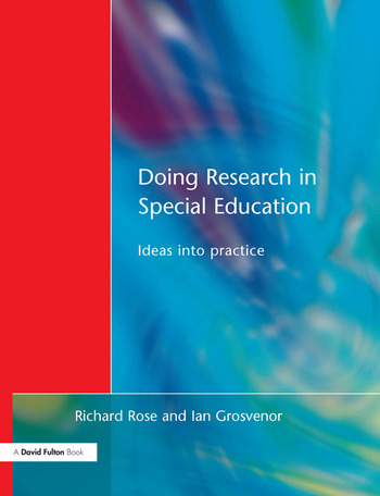 Doing Research in Special Education Ideas into Practice book cover
