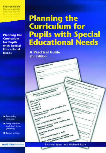 Planning the Curriculum for Pupils with Special Educational Needs A Practical Guide book cover