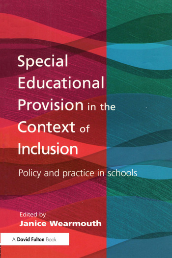 Special Educational Provision in the Context of Inclusion Policy and Practice in Schools book cover