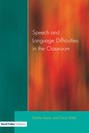 Speech and Language Difficulties in the Classroom book cover
