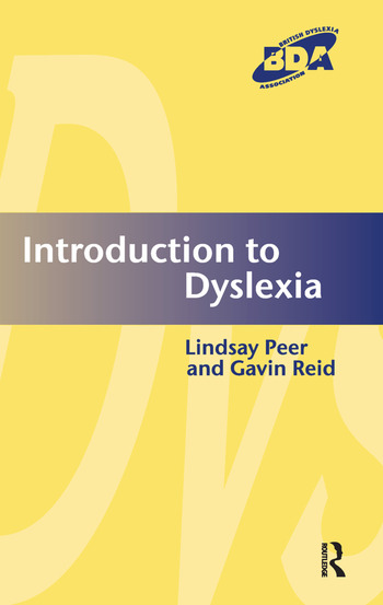 Introduction to Dyslexia book cover