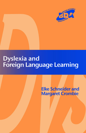 Dyslexia and Modern Foreign Languages book cover