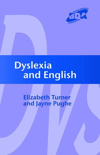Dyslexia and English book cover