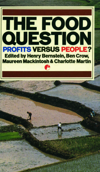 The Food Question Profits Versus People book cover